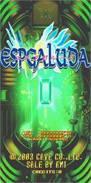Title screen of EspGaluda on the Arcade.