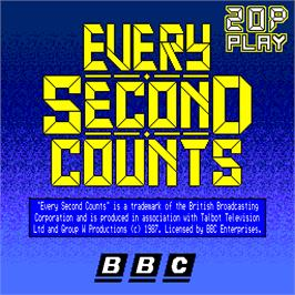 Title screen of Every Second Counts on the Arcade.