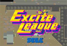 Title screen of Excite League on the Arcade.