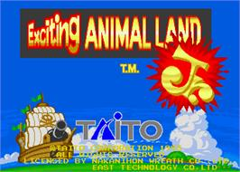 Title screen of Exciting Animal Land Jr. on the Arcade.