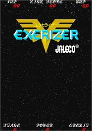 Title screen of Exerizer on the Arcade.