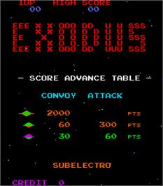 Title screen of Exodus on the Arcade.