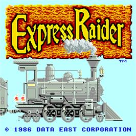 Title screen of Express Raider on the Arcade.