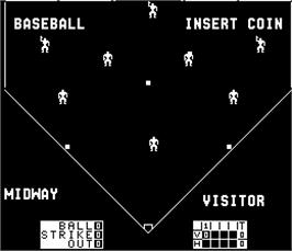 Title screen of Extra Inning on the Arcade.