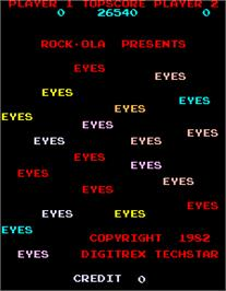Title screen of Eyes on the Arcade.