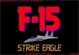 Title screen of F-15 Strike Eagle on the Arcade.