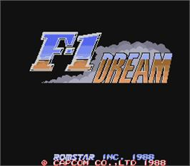 Title screen of F-1 Dream on the Arcade.