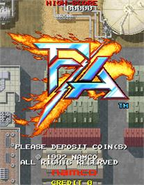 Title screen of F/A on the Arcade.