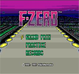Title screen of F-Zero on the Arcade.