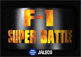 Title screen of F1 Super Battle on the Arcade.