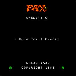 Title screen of FAX on the Arcade.