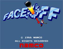 Title screen of Face Off on the Arcade.