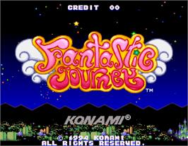 Title screen of Fantastic Journey on the Arcade.