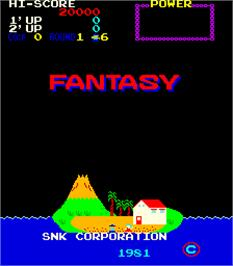Title screen of Fantasy on the Arcade.