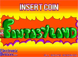 Title screen of Fantasy Land on the Arcade.
