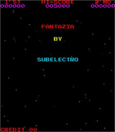 Title screen of Fantazia on the Arcade.