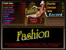 Title screen of Fashion on the Arcade.