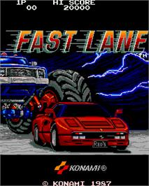 Title screen of Fast Lane on the Arcade.