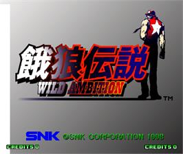 Title screen of Fatal Fury: Wild Ambition on the Arcade.