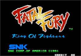 Title screen of Fatal Fury - King of Fighters / Garou Densetsu - shukumei no tatakai on the Arcade.