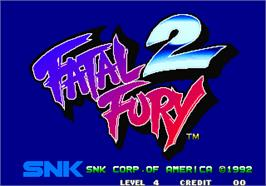 Title screen of Fatal Fury 2 / Garou Densetsu 2 - arata-naru tatakai on the Arcade.