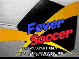 Title screen of Fever Soccer on the Arcade.