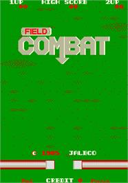 Title screen of Field Combat on the Arcade.