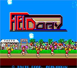 Title screen of Field Day on the Arcade.