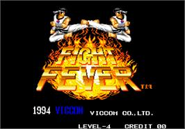 Title screen of Fight Fever on the Arcade.