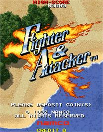 Title screen of Fighter & Attacker on the Arcade.