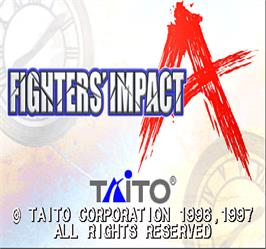 Title screen of Fighters' Impact A on the Arcade.