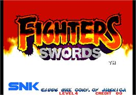 Title screen of Fighters Swords on the Arcade.