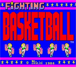 Title screen of Fighting Basketball on the Arcade.