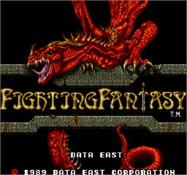 Title screen of Fighting Fantasy on the Arcade.