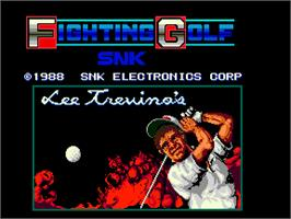 Title screen of Fighting Golf on the Arcade.