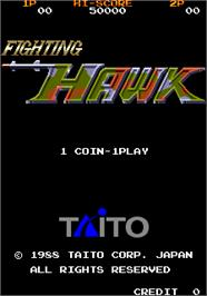 Title screen of Fighting Hawk on the Arcade.