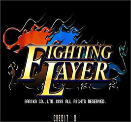 Title screen of Fighting Layer on the Arcade.