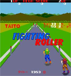 Title screen of Fighting Roller on the Arcade.