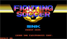 Title screen of Fighting Soccer on the Arcade.