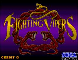 Title screen of Fighting Vipers on the Arcade.