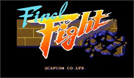 Title screen of Final Fight on the Arcade.
