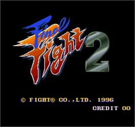 Title screen of Final Fight 2 on the Arcade.