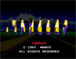 Title screen of Final Lap on the Arcade.