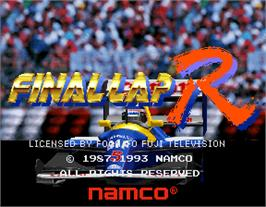 Title screen of Final Lap R on the Arcade.