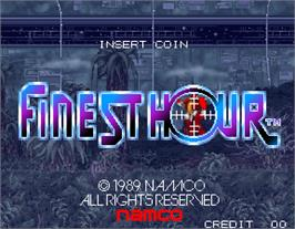 Title screen of Finest Hour on the Arcade.