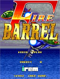 Title screen of Fire Barrel on the Arcade.