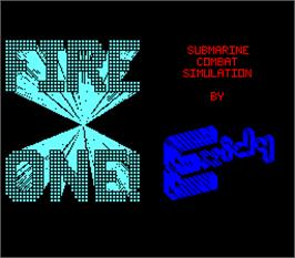 Title screen of Fire One on the Arcade.