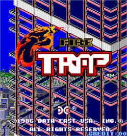 Title screen of Fire Trap on the Arcade.