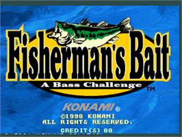 Title screen of Fisherman's Bait - A Bass Challenge on the Arcade.
