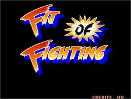 Title screen of Fit of Fighting on the Arcade.